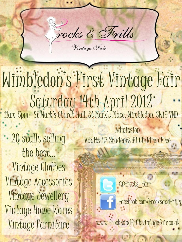 Frocks & Frills Vintage Fair Saturday 14th April '12 - St Mark's Church Hall, Wimbledon