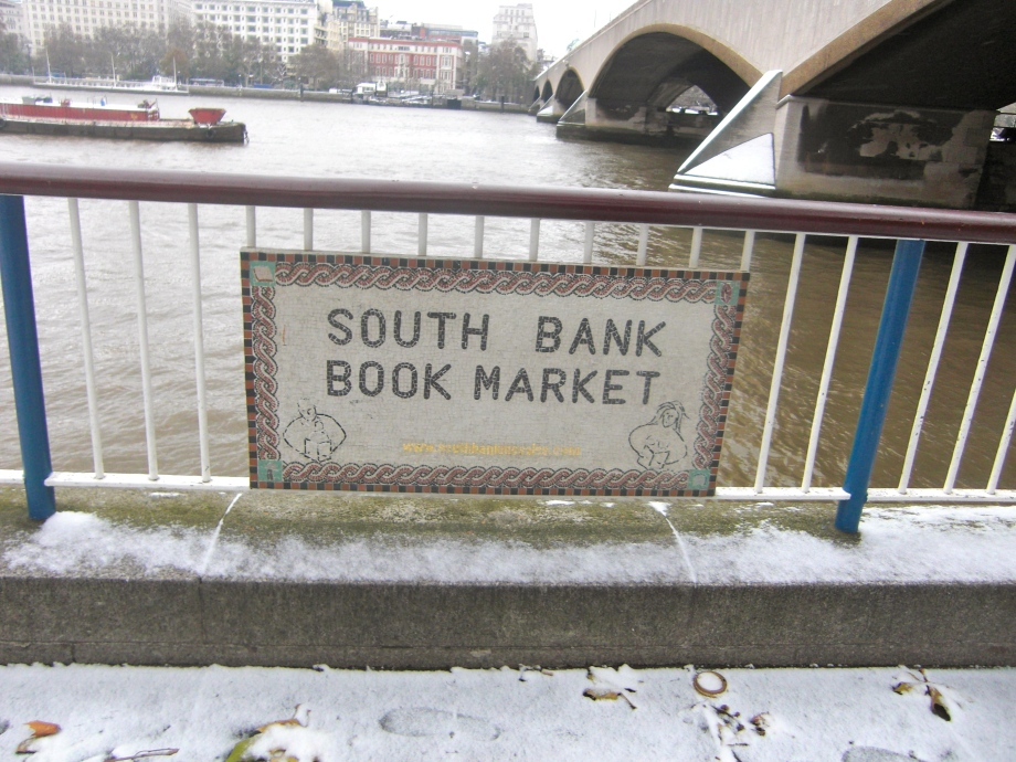 South Bank River sign