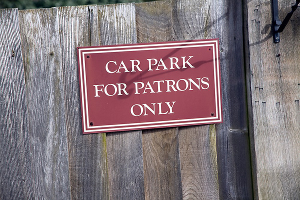 Car Park for Patrons only