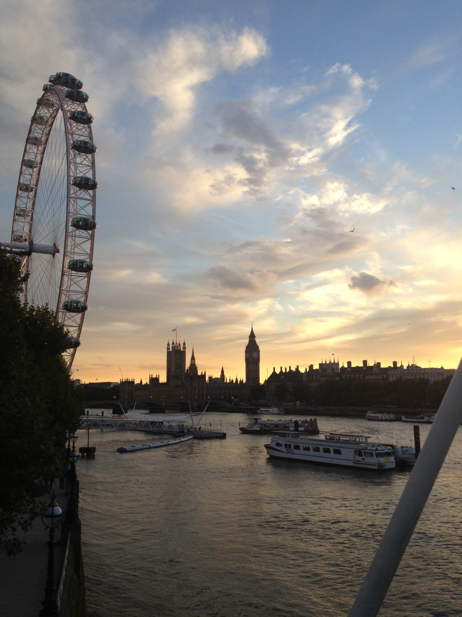 The Embankment at Sundown
