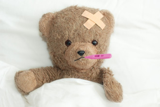 Sick Little Teddy Bear
