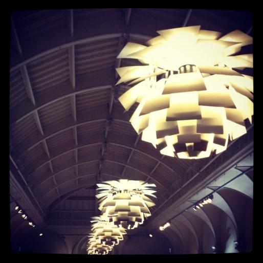 Ceiling lights in Brighton Museum