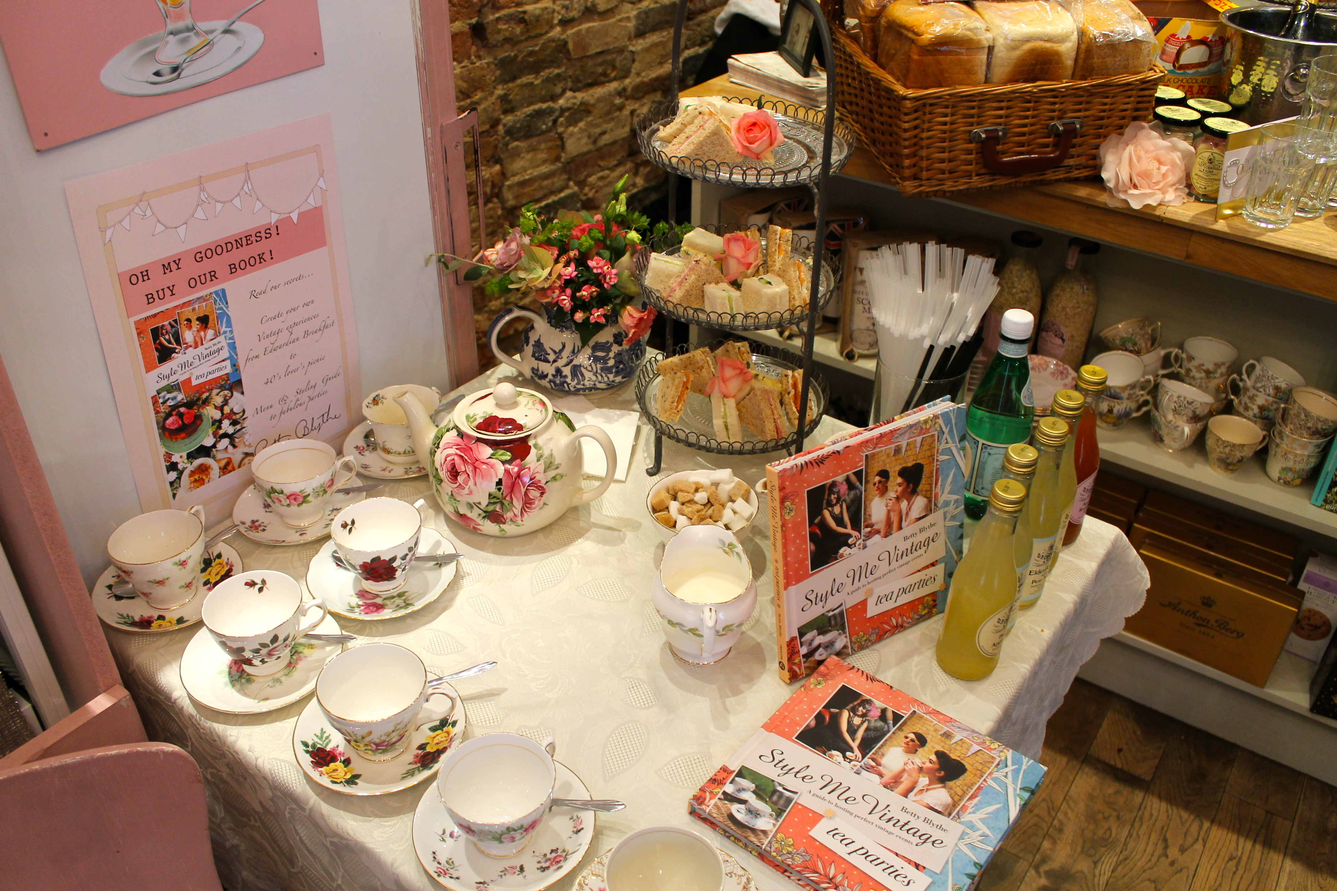 Tea & Cake at Betty Blythe Kensington Style Me Vintage Book Launch