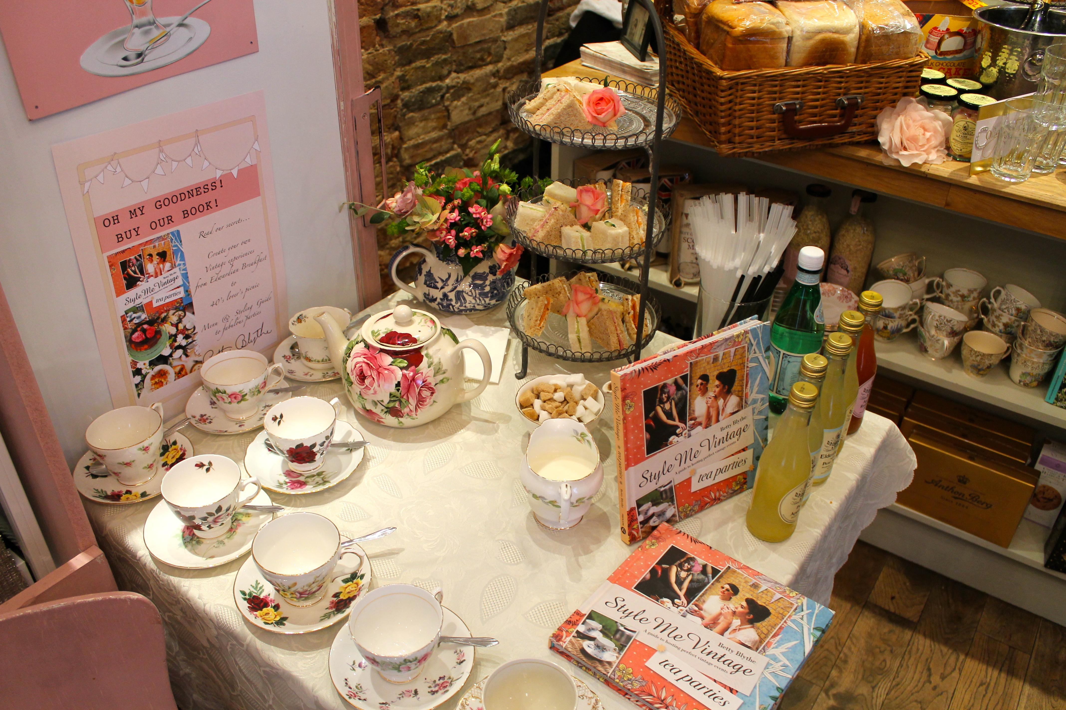 Tea & Cake at Betty Blythe Kensington Style Me Vintage Book Launch