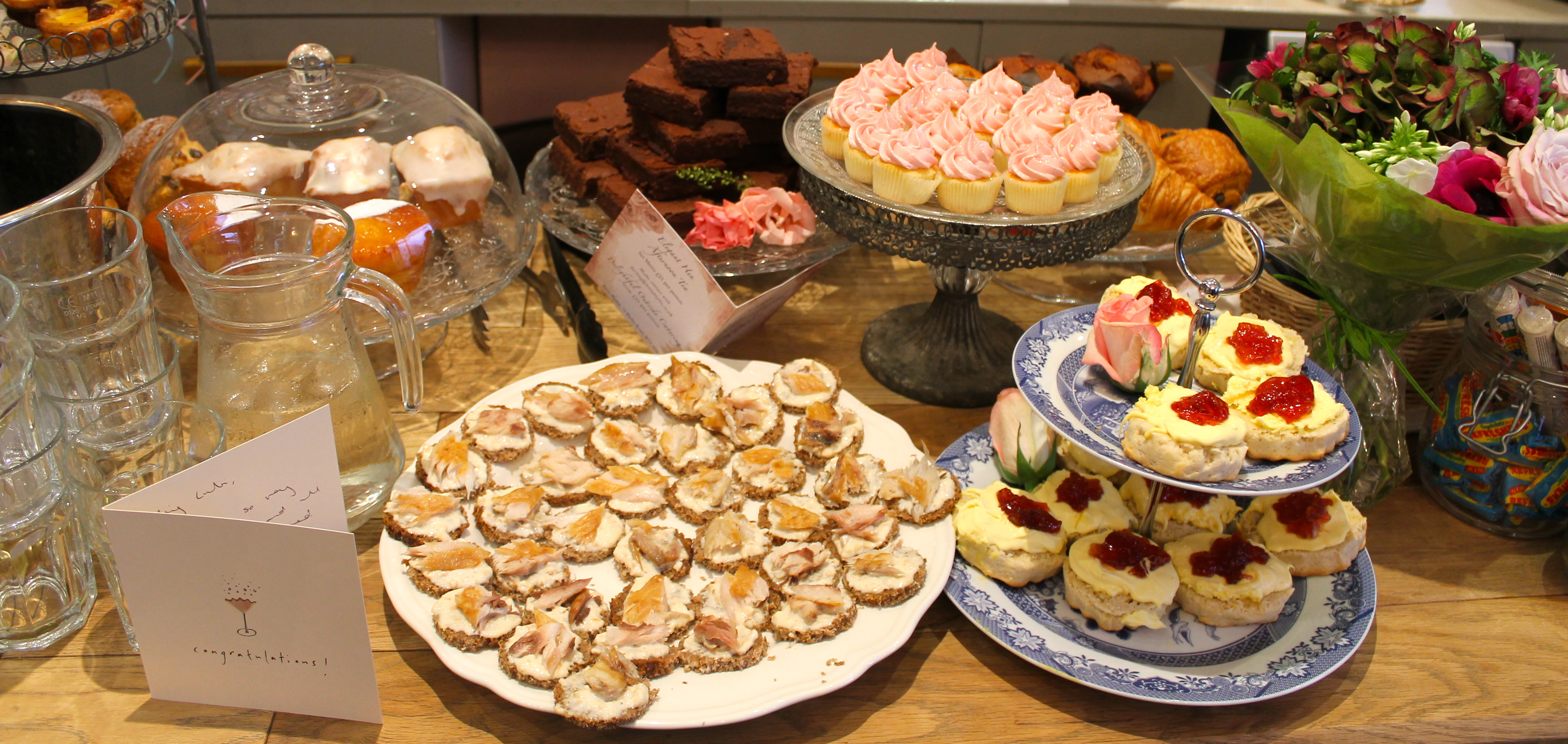Food Spread at Betty Blythe for Style Me Vintage Tea Parties