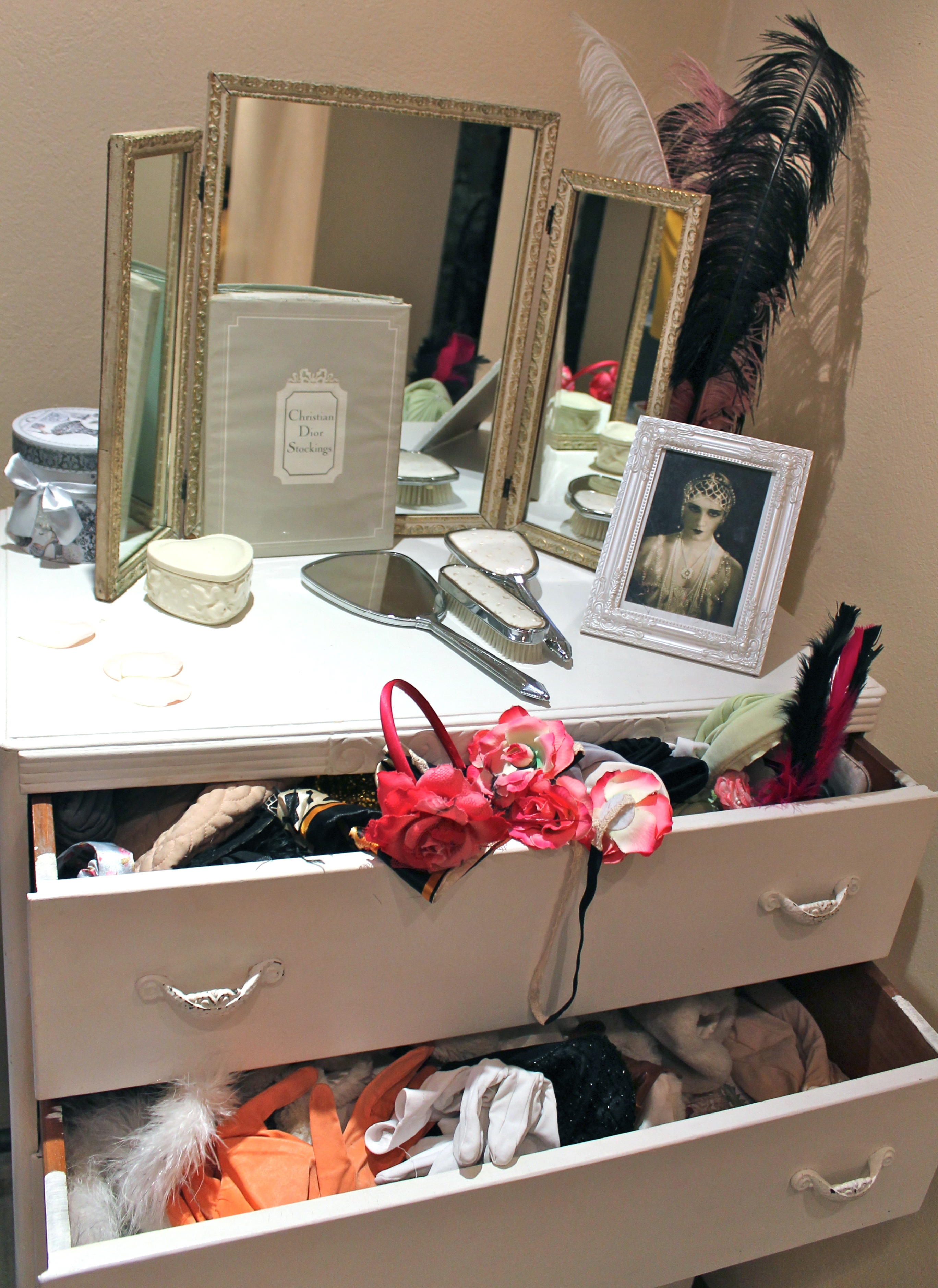 Dressing up Dressing table at Betty Blythe Kensington for Style Me Vintage Tea Parties