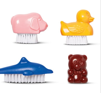 Tiger - Nail Brush Animals - 2 for £1