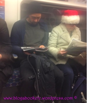Santa Hat on the underground