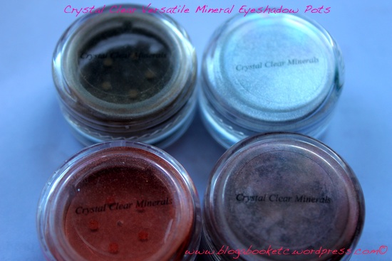 Crystal Clear Mineral Eyeshadow 4 pots