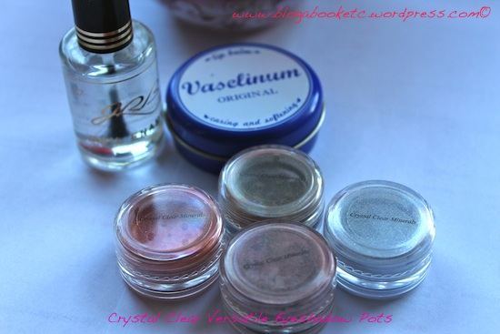Crystal Clear Versatile Mineral Eyeshadow Pots