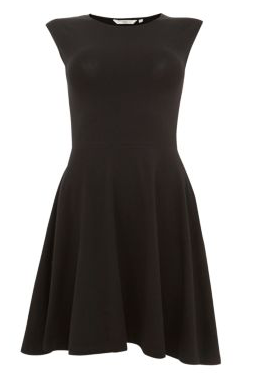 Black Cap Sleeve Skater Dress £9.99 LITTLE BLACK DRESS