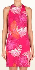 Gucci Ready to Wear Shocking Pink Dahlia Print Dress £645