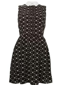 Monochrome Bow Print Shirt Dress £19.99