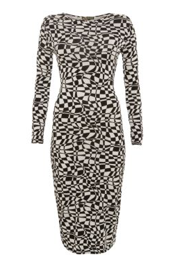 Parisian Monochrome Chequered Midi Dress £14.99 OUT OF STOCK