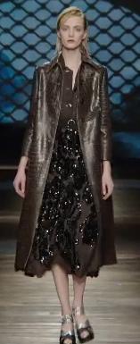 Prada F/W 2013 Croc skin coat with sparkly skirt