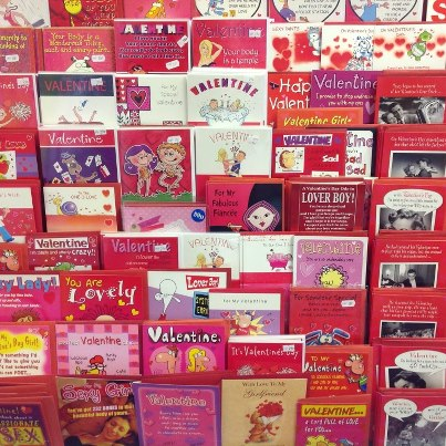 valentines card display