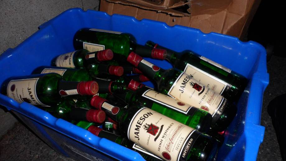drunk recycling!