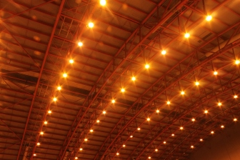 Yellow lighting in earls court 2 vitality show