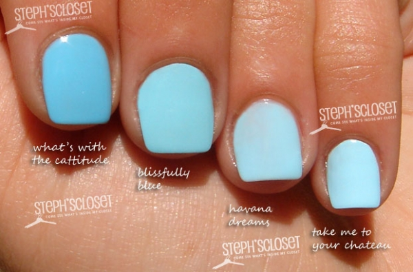 This image was found on google using the search team 'OPI Pastel Blue Nails' please click on the photo for the link to stephscloset.com