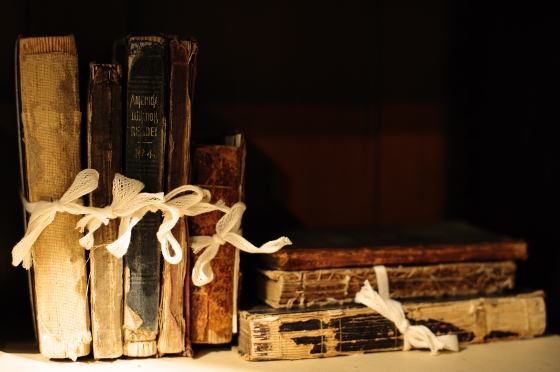 damaged old books