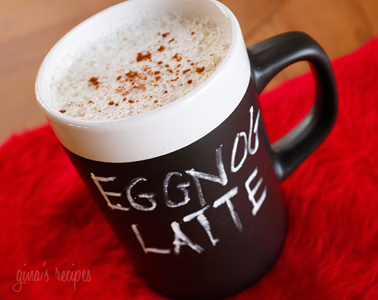 home made egg nog latte
