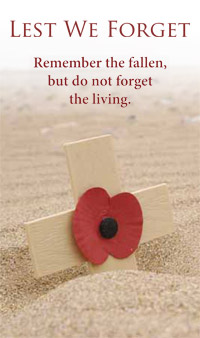 lest we forget living and dead