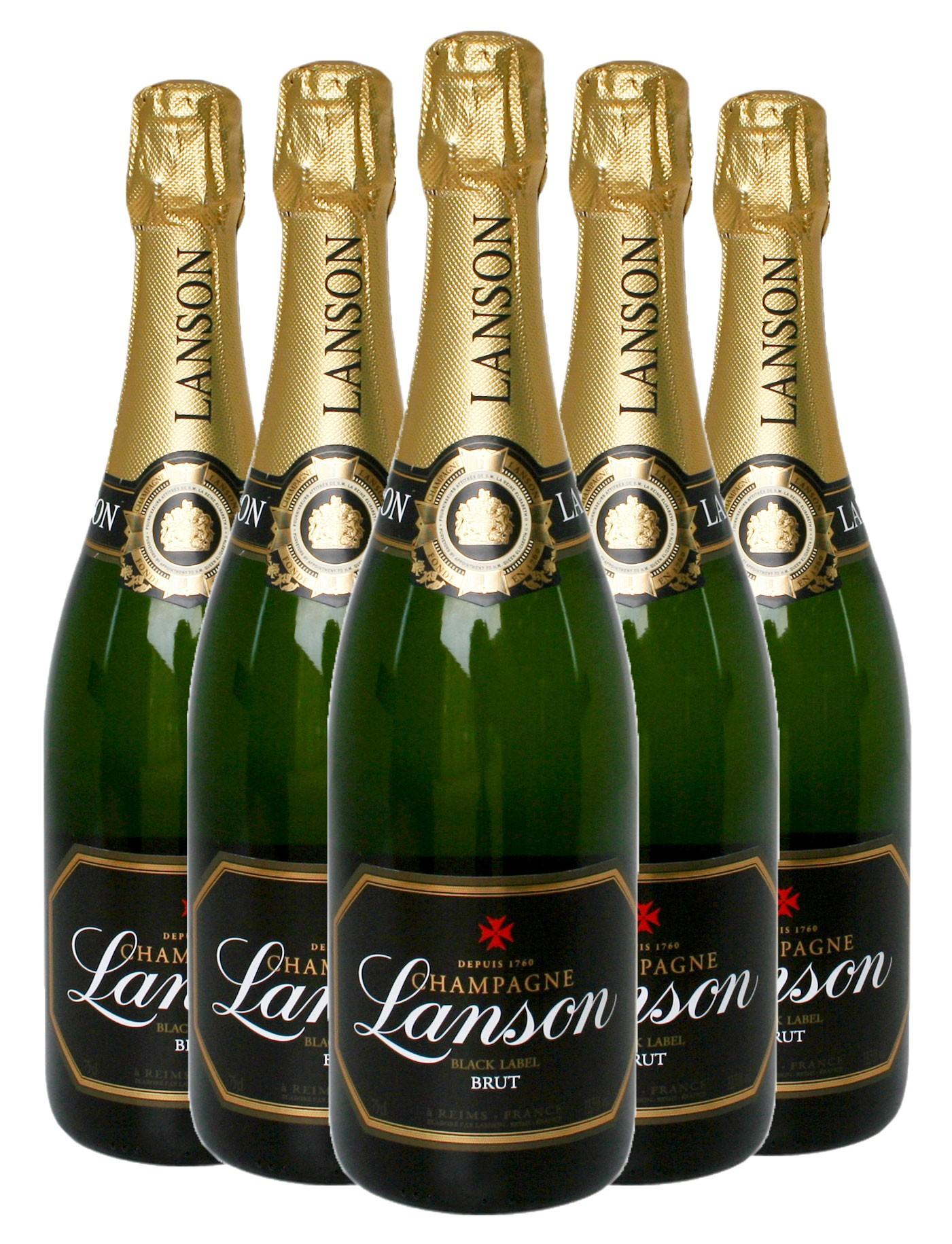 lanson black label 5 bottles