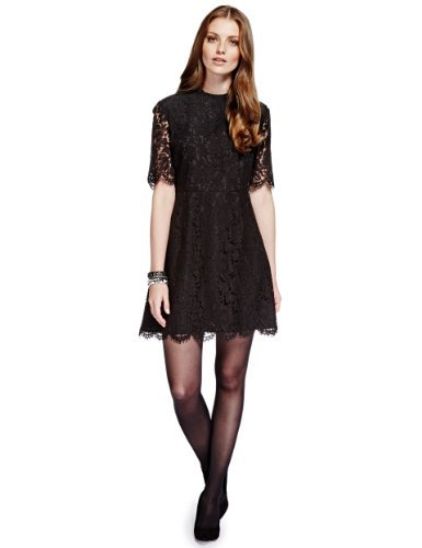 Limited Edition Floral Lace Fit & Flare Skater Dress £59