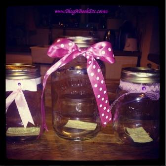 Kilner Jars with bows