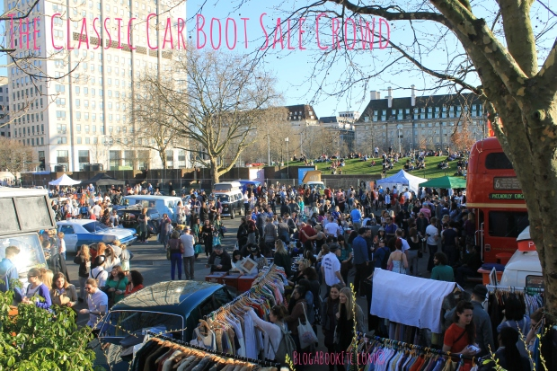 classic car boot crowd