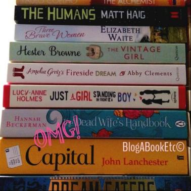 readathon book pile