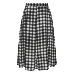 Black and white gingham midi skirt £12.00