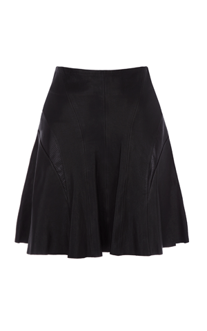 Leather flippy skirt karen millen £350