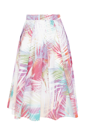 Palm tree print full skirt £99 karen millen