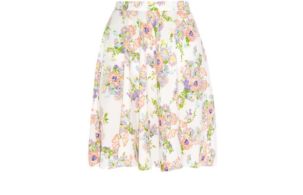 white floral print pleated skater skirt new look £17.99