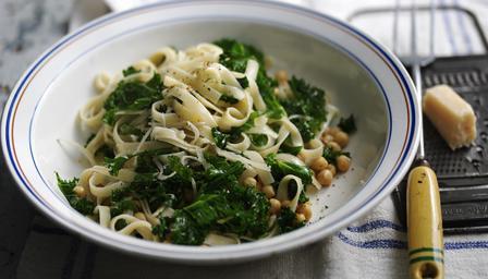 Tagliatelle, Pasta, Food, Blog A Book Etc, BBC Food, Chick Peas, Pecorino, Cavolo Nero, Italian, Italia, Italy