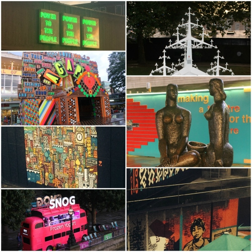London, South Bank, Views, Photography, Festival of Love, Snog, Frozen Yoghurt, Statues, Wall Art