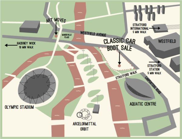 Classic Car Boot Sale Map