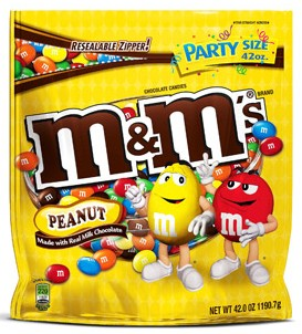 m&m peanuts, sweets, chocolate, confectionery