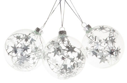 Christmas, Zara, Zara Home, Christmas, Christmas Decorations, Baubles, Stars, Silver, Glitter
