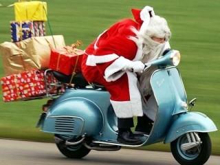 santa moped!