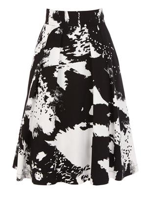 Coast, Fashion, Winter, Skirts, Cannizaro Skirt, Black, White, Monochrome, Christmas