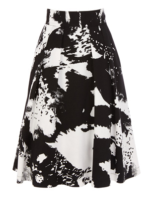 Coast, Fashion, Winter, Skirts, Cannizaro Skirt, Black, White, Monochrome, Christmas