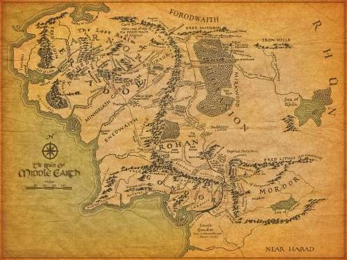 Middle Earth, Maps, Lord of the Rings, LOTR