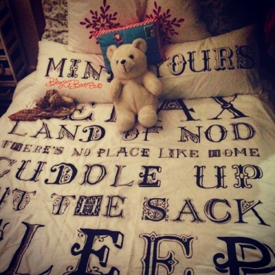 Mine, Yours, Bed, Bedding, Home, Homewares, Blog A Book Etc, Fay, Christmas, Festive