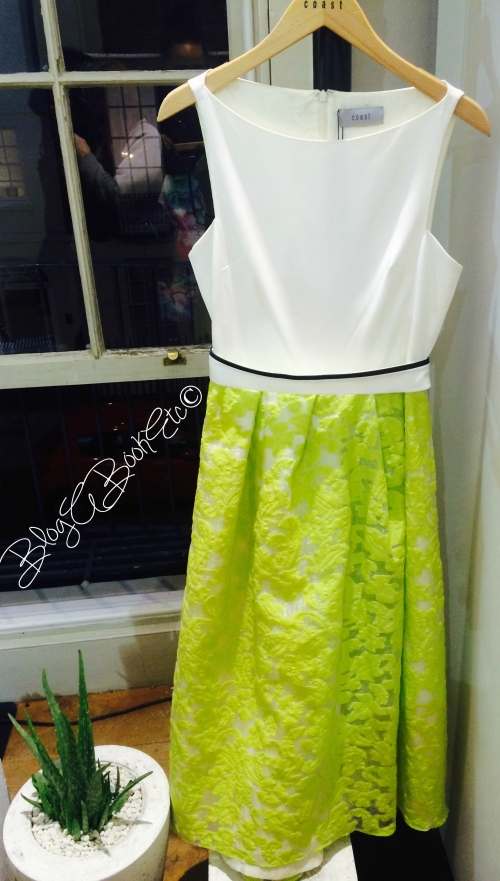 Coast, SS15, Spring, Summer, Accessories, Press Day, Fashion, Style, Dress, White, Lime Green