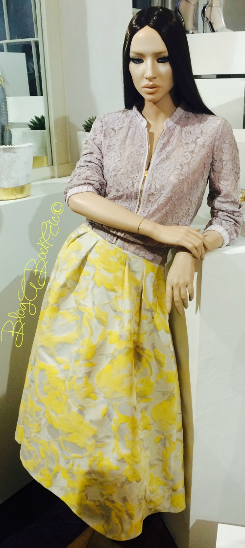 Coast, SS15, Spring, Summer, Accessories, Press Day, Fashion, Style, Yellow, Skirt, Lace, Bomber, Jacket, Embellished, New Romance, Casey Lace Bomber, Rita Skirt